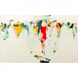Figuration Gemälde 80x130cm