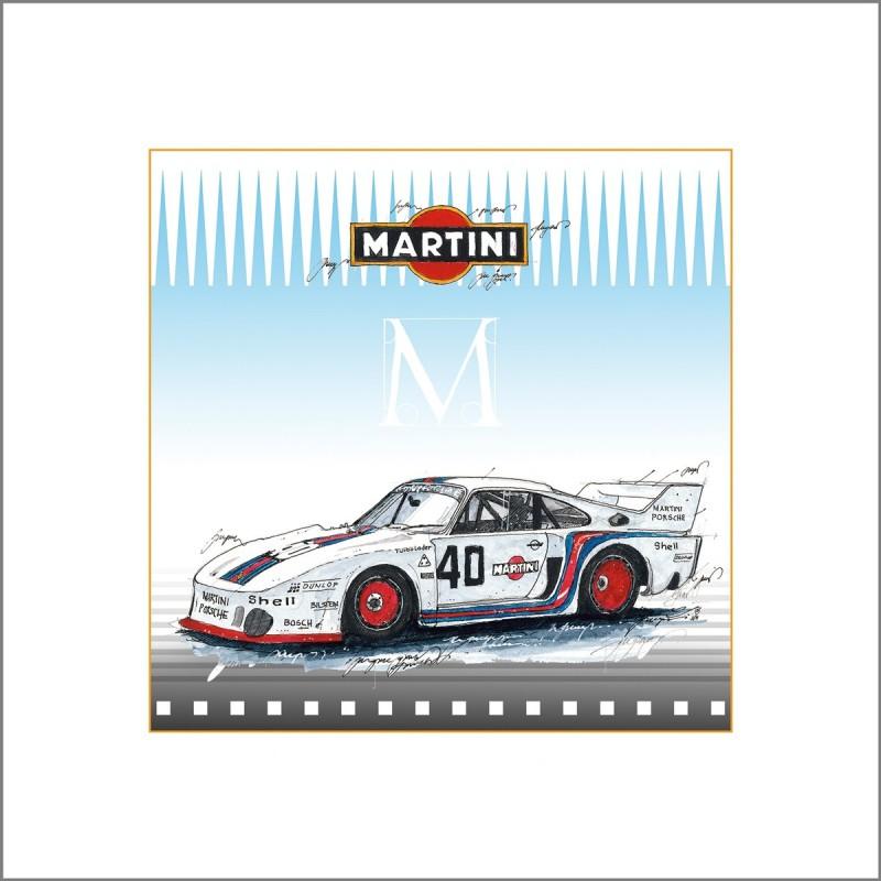 Leslie Hunt Bilder kaufen Original Porsche Martini 935 Giclee