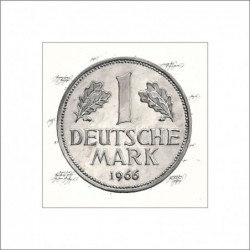 "Leslie Hunt Bilder kaufen Original ""Deutsche Mark-DM"" Giclee"