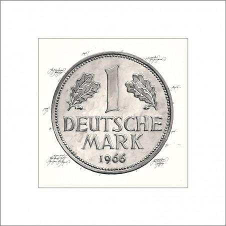 """Leslie Hunt Bilder kaufen Original """"Deutsche Mark-DM"""" Giclee"""