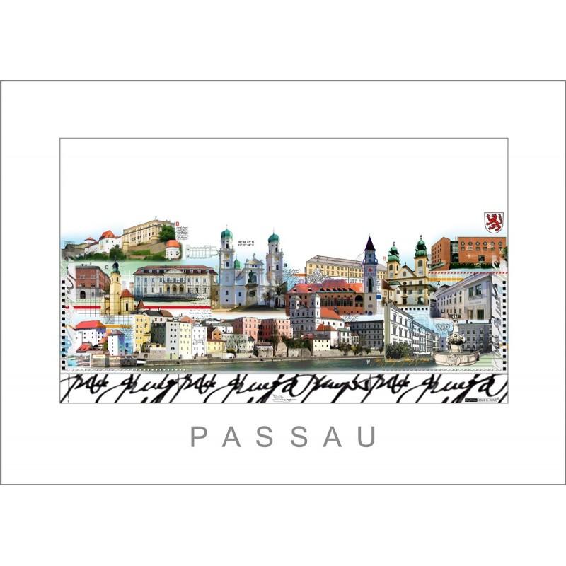 """Leslie Hunt Bilder kaufen Original """"Passau"""" Giclee"""