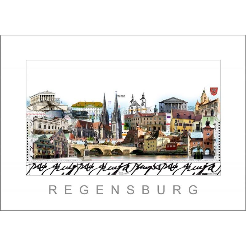 "Leslie Hunt Bilder kaufen Original ""Regensburg"" Giclee"