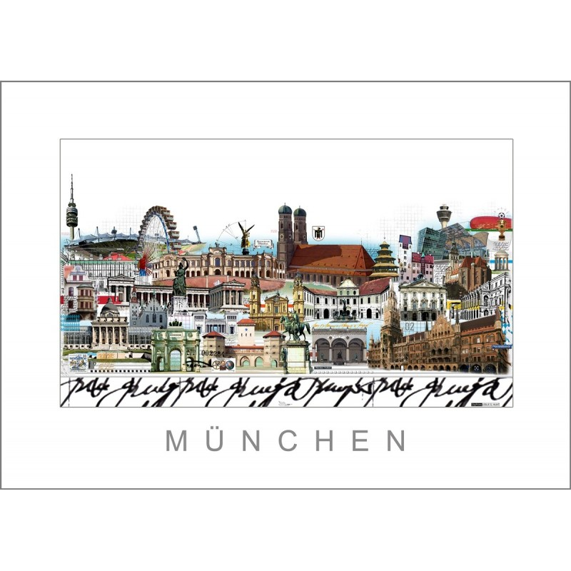 """Leslie Hunt Bilder kaufen Original """"München"""" Giclee"""