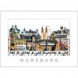 """Leslie Hunt Bilder kaufen Original """"Würzburg"""" Giclee"""