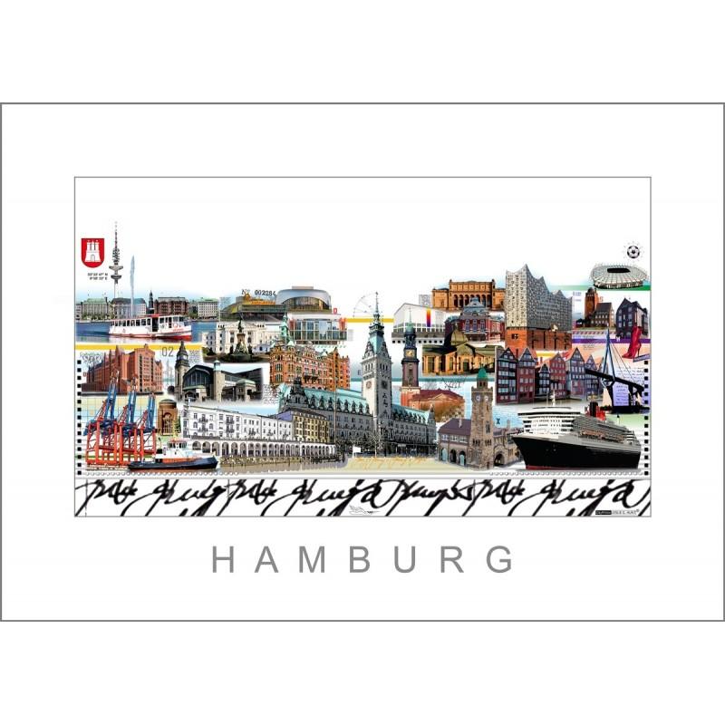 """Leslie Hunt Bilder kaufen Original """"Hamburg"""" Giclee"""