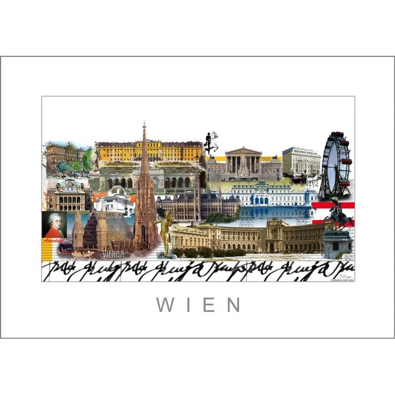 """Leslie Hunt Bilder kaufen Original """"Wien"""" Giclee"""