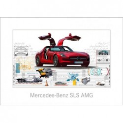 """Leslie Hunt Bilder kaufen Original """"Mercedes Benz SLS"""" Giclee"""