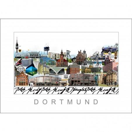 """Leslie Hunt Bilder kaufen Original """"Dortmund"""" Giclee"""