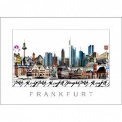 """Leslie Hunt Bilder kaufen Original """"Frankfurt am Main"""" Giclee"""
