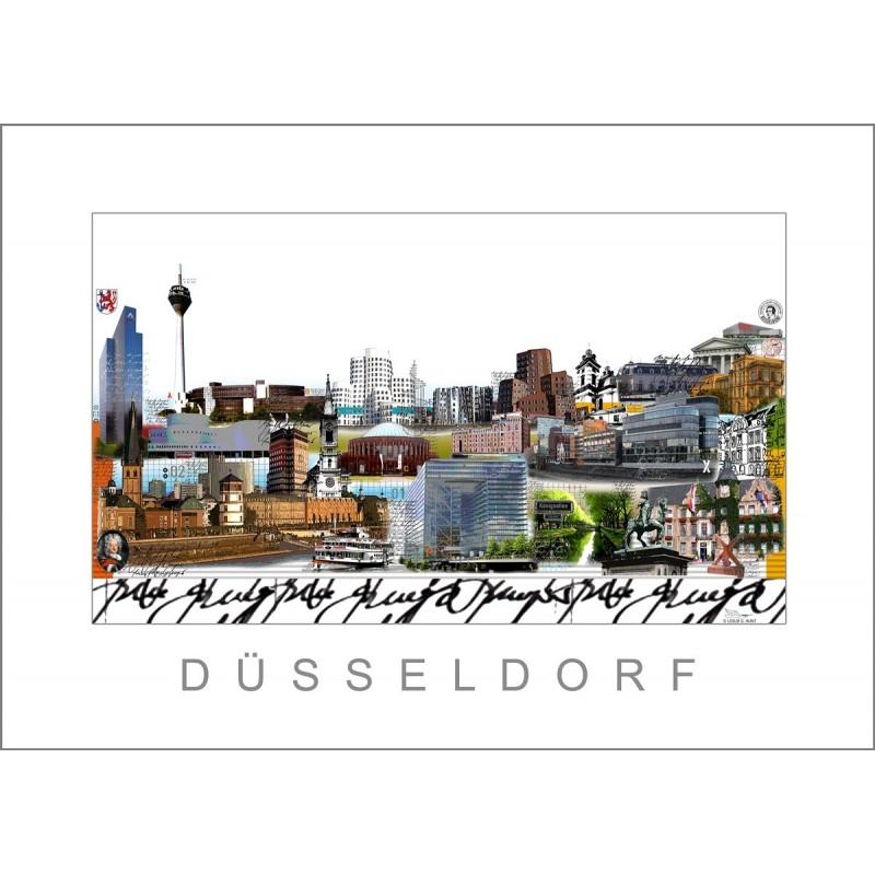 """Leslie Hunt Bilder kaufen Original """"Düsseldorf"""" Giclee"""