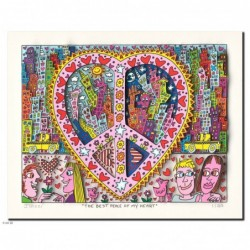 "James Rizzi 3D Bild Original drucksigniert ""The best peace of my heart"""
