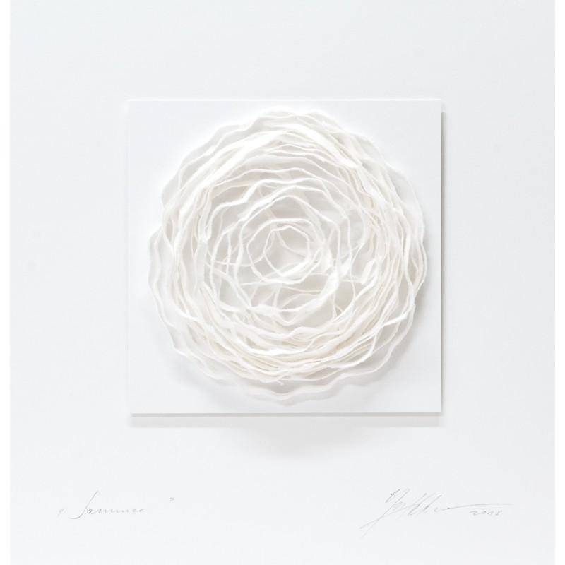 Gabriele Mierzwa Papierobjekt Sommer 50x50cm