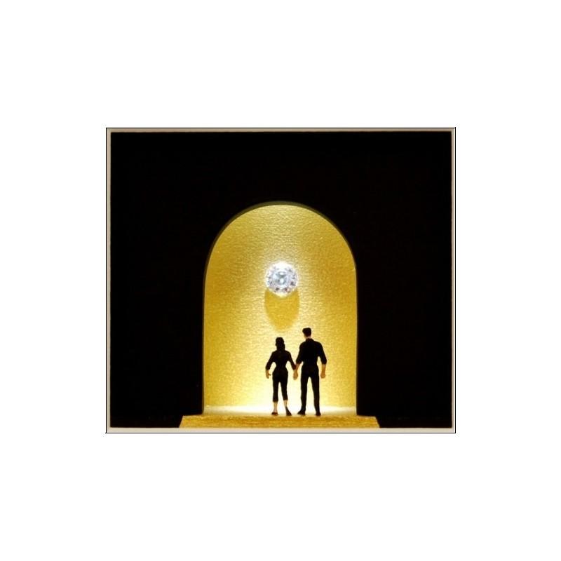 """Volker Kühn """"Am Ende des Tunnels kommt das Licht"""" Objekt Bild 3D"""