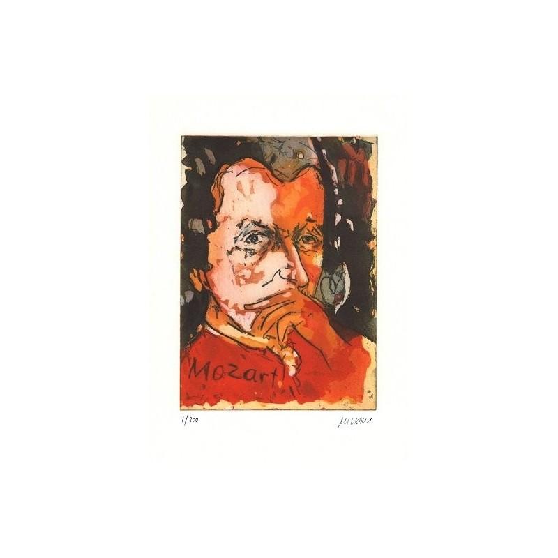 Armin Mueller-Stahl * Wolfgang Amadeus Mozart handsigniertes Original Kunst Bild kaufen