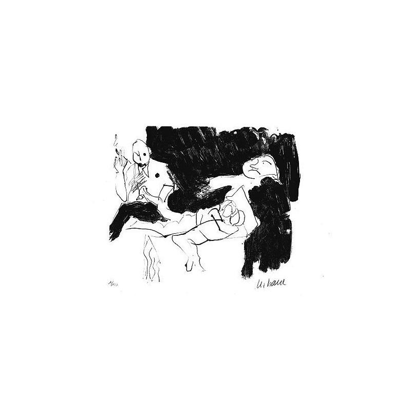 Armin Mueller-Stahl * Liegendes Paar handsigniertes Original Kunst Bild kaufen