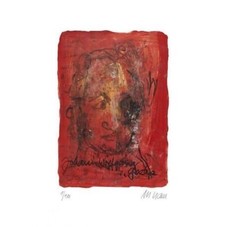 Armin Mueller-Stahl * Johann Wolfgang von Goethe handsigniertes Original Kunst Bild kaufen