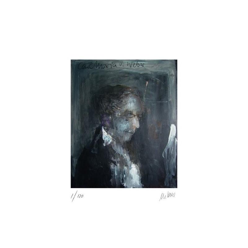 Armin Mueller-Stahl * Carl Maria von Weber handsigniertes Original Kunst Bild kaufen
