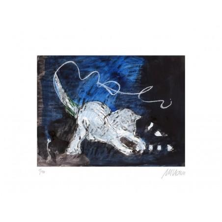 Armin Mueller-Stahl * Spielende Katze handsigniertes Original Kunst Bild kaufen