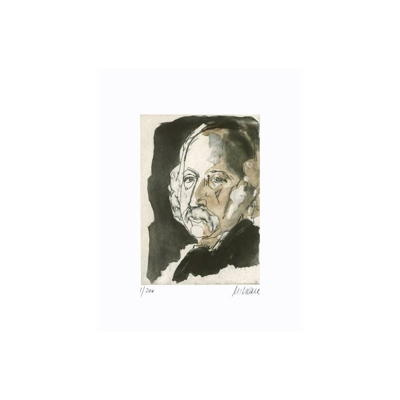Armin Mueller-Stahl * Theodor Fontane handsigniertes Original Kunst Bild kaufen