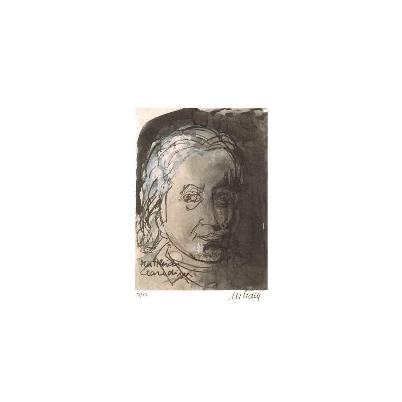 Armin Mueller-Stahl * Matthias Claudius handsigniertes Original Kunst Bild kaufen
