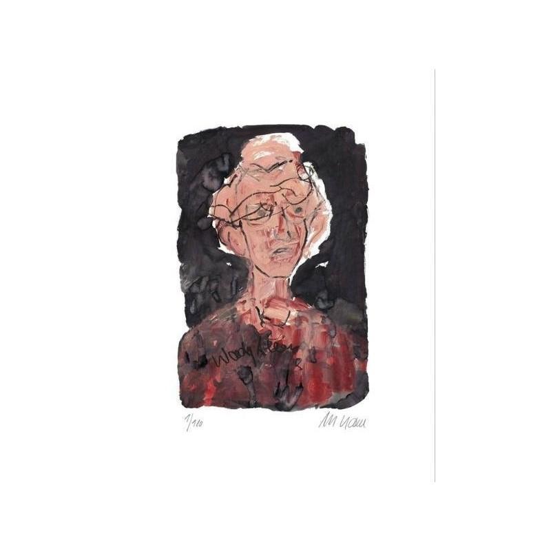 Armin Mueller-Stahl * Woody Allen handsigniertes Original Kunst Bild kaufen