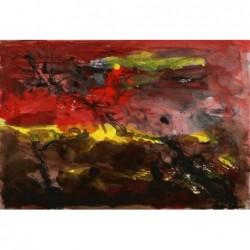 Armin Mueller-Stahl * Baumlandschaft II handsigniertes Original Kunst Bild kaufen