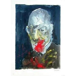 Armin Mueller-Stahl * Sigmund Freud handsigniertes Original Kunst Bild kaufen