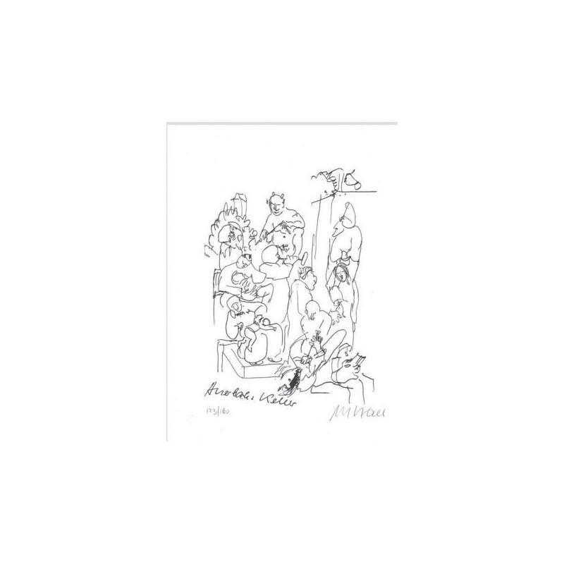 Armin Mueller-Stahl * Auerbachs Keller handsigniertes Original Kunst Bild kaufen