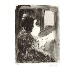 Armin Mueller-Stahl * Lesende handsigniertes Original Kunst Bild kaufen