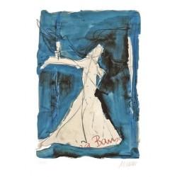 Armin Mueller-Stahl * Pina Bausch - Es kann fast alles Tanz sein handsigniertes Original Kunst Bild kaufen