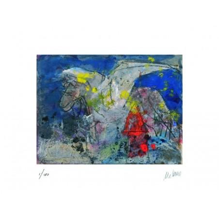 Armin Mueller-Stahl * Pegasus handsigniertes Original Kunst Bild kaufen