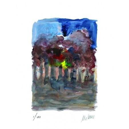 Armin Mueller-Stahl * Allee im Zwielicht handsigniertes Original Kunst Bild kaufen