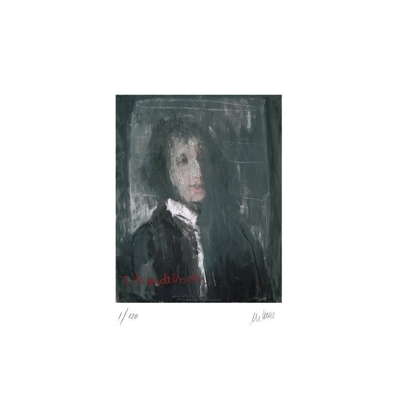 Armin Mueller-Stahl * Felix Mendelssohn-Bartholdy handsigniertes Original Kunst Bild kaufen