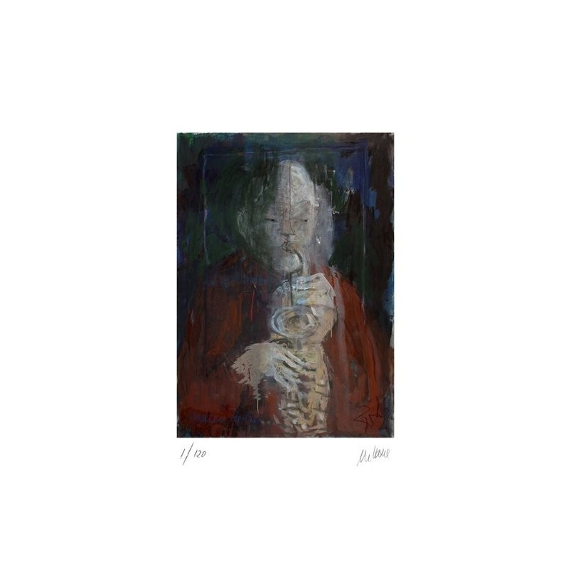 Armin Mueller-Stahl * Maceo Parker handsigniertes Original Kunst Bild kaufen