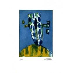 Armin Mueller-Stahl * Kleine Kopfgeburt handsigniertes Original Kunst Bild kaufen
