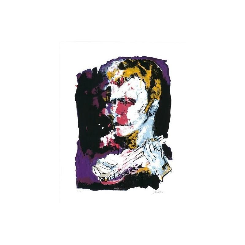 Armin Mueller-Stahl * David Bowie handsigniertes Original Kunst Bild kaufen