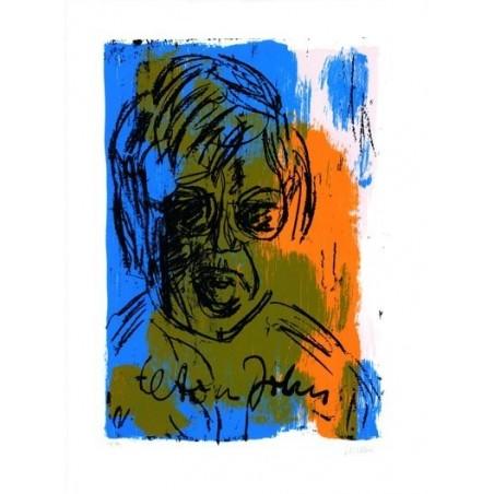 Armin Mueller-Stahl * Elton John handsigniertes Original Kunst Bild kaufen