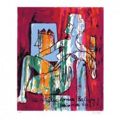 Armin Mueller-Stahl * Anna Boleyn-Heinrich VIII. handsigniertes Original Kunst Bild kaufen