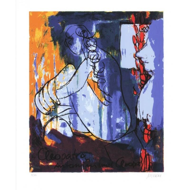 Armin Mueller-Stahl * Cleopatra - Antonius und Cleopatra handsigniertes Original Kunst Bild kaufen