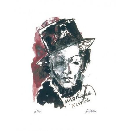 Armin Mueller-Stahl * Marlene Dietrich handsigniertes Original Kunst Bild kaufen