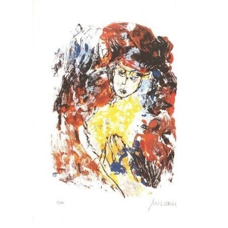 Armin Mueller-Stahl * Frau mit Hut handsigniertes Original Kunst Bild kaufen