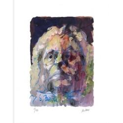 Armin Mueller-Stahl * Johann Sebastian Bach handsigniertes Original Kunst Bild kaufen