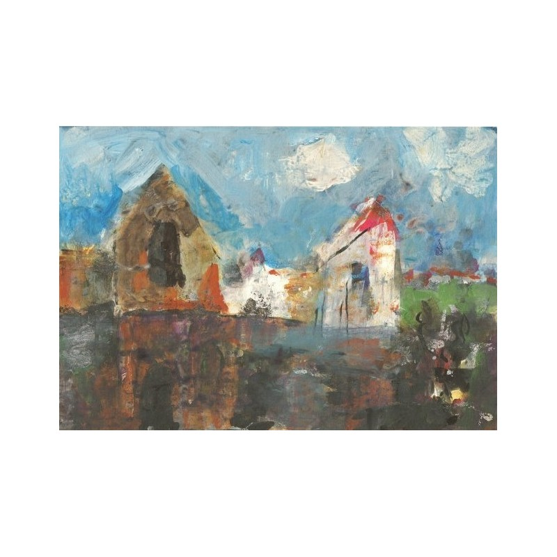Armin Mueller-Stahl * Haus am See handsigniertes Original Kunst Bild kaufen