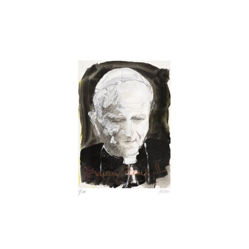 Armin Mueller-Stahl * Johannes Paul II handsigniertes Original Kunst Bild kaufen