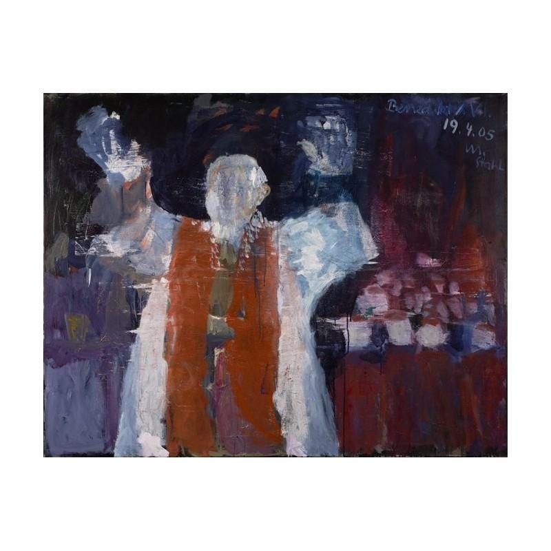 Armin Mueller-Stahl * Benedikt XVI. handsigniertes Original Kunst Bild kaufen