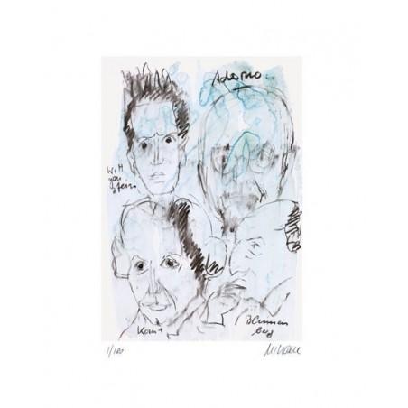 Armin Mueller-Stahl Original Bilder kaufen * Adorno handsigniert
