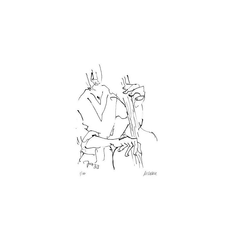 Armin Mueller-Stahl Kunst Bild kaufen Jazz-Bassist   handsigniertes Original