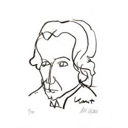 Armin Mueller-Stahl Kunst Bild kaufen Immanuel Kant   handsigniertes Original