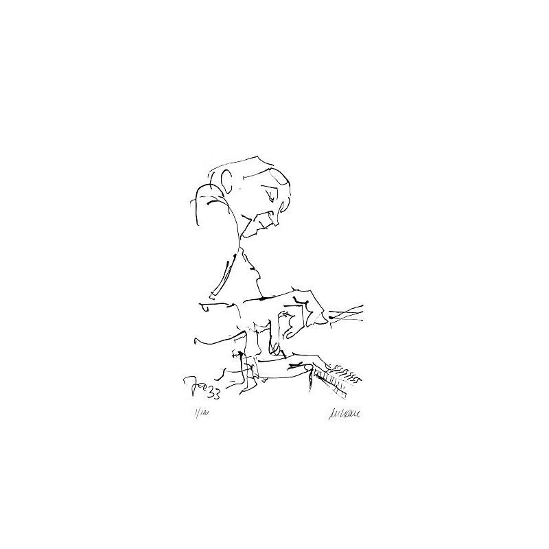 Armin Mueller-Stahl Kunst Bild kaufen Jazz-Pianospieler | handsigniertes Original