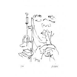 Armin Mueller-Stahl Kunst Bild kaufen Jazz-Trompeter | handsigniertes Original